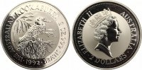 1992  2 Dollar Kookaburra ST  75,00 EUR  zzgl. 4,00 EUR Versand