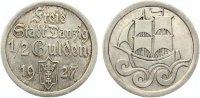 1927  1/2 Gulden Danzig vz+  135,00 EUR  zzgl. 4,00 EUR Versand