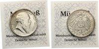 1907  2 Mark Baden auf den Tod vz + MDM Zertifikat  75,00 EUR  zzgl. 4,00 EUR Versand
