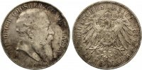 1907  5 Mark Baden ss  55,00 EUR  zzgl. 4,00 EUR Versand