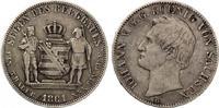 1861  Taler Sachsen 1861 Ausbeutetaler ss  65,00 EUR  zzgl. 4,00 EUR Versand