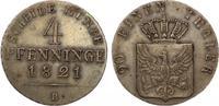 1821 B  Brandenburg-Preussen Friedrich Wilhelm III. 1797-1840. CU-4 Pf... 135,00 EUR  zzgl. 4,00 EUR Versand