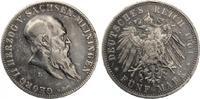 1901  5 Mark Sachsen Meiningen 1901 Zum 75 Geburtstag ss kl Rf  385,00 EUR  zzgl. 4,00 EUR Versand