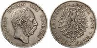 1889  5 Mark Sachsen ss+  225,00 EUR  zzgl. 4,00 EUR Versand