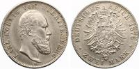 1876  2 Mark Württemberg vz-st  950,00 EUR kostenloser Versand