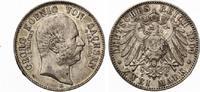 1904  2 Mark Sachsen 1904 Georg auf den Tod vz  feine Patina  80,00 EUR  zzgl. 4,00 EUR Versand