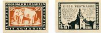 1921-1922  Leipzig 50 Pfennig Mehl 787.1 Zoologischer Garten Elefant 1  3,00 EUR  plus 4,00 EUR verzending