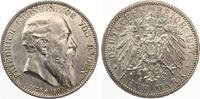 1907  5 Mark Baden auf den Tod Jaeger 37 vz-st  225,00 EUR  zzgl. 4,00 EUR Versand