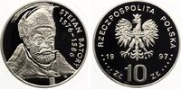 1997  Polen 10 Zloty Brustbild Stefan Batory pp  60,00 EUR  zzgl. 4,00 EUR Versand