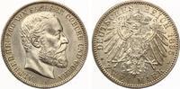 1895  2 Mark Sachsen Coburg Gotha Alfred  Jaeger 145 Prägefrisch  1695,00 EUR kostenloser Versand