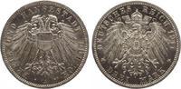 1911  3 Mark Lübeck 1911 Jaeger 82 fast Stempelglanz  215,00 EUR  zzgl. 4,00 EUR Versand