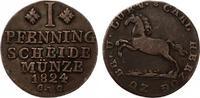 1824  Braunschweig 1 Pfennig ss  9,50 EUR  zzgl. 1,70 EUR Versand