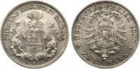 1888  2 Mark Hamburg f.st Prachtexemplar  1350,00 EUR kostenloser Versand