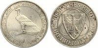 1930 F  3 Mark Rheinlandräumung vz/prägefrisch  65,00 EUR  zzgl. 4,00 EUR Versand