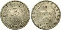 1931 G  3 Reichmark vz-st  695,00 EUR kostenloser Versand