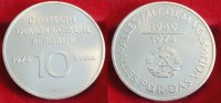 1974  10 Mark 25 Jahre DDR Silberprobe ST  750,00 EUR kostenloser Versand