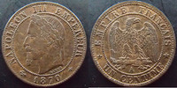 1870 A France NAPOLEON III, 1 centime 1870 A Paris, G.87 SUPERBE Rare!... 90,00 EUR  zzgl. 6,00 EUR Versand