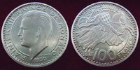 1950 Monaco MONACO, Rainier III, 100 francs 1950 'Essai' Piefort, 30,1... 200,00 EUR  zzgl. 6,00 EUR Versand