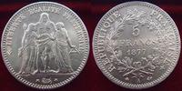 1877 A France 5 francs Hercule 1877 A, G.745a SUPERBE vz  80,00 EUR  +  6,00 EUR shipping