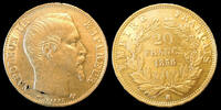 1858 BB Faux d'époque, or, platine NAPOLEON III, 20 francs 1858 BB Str... 340,00 EUR free shipping