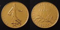 France 1 franc Semeuse de Roty en or, année 2000, or 750°/°°, 8 grms,... 420,00 EUR  zzgl. 6,00 EUR Versand