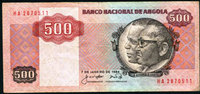 7.01.1984 Angola ANGOLA, billet de 500 Kwanzas 7.01.1984, P.120a TB+ s+  9,00 EUR