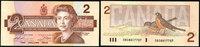 1986 Canada, billet CANADA, billet de 2 dollars 1986, SPL vz+  5,00 EUR