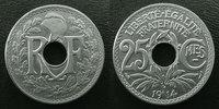 1914 France 25 centimes Lindauer 1914 cmes souligné, G.379 SUPERBE+ vz+  22,00 EUR