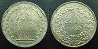 1960 B SUISSE, SCHWEIZ, SWITZERLAND Suisse, Switzerland, Schweiz, 2 fr... 7,50 EUR