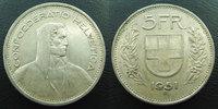 1951 B SUISSE, SCHWEIZ, SWITZERLAND Suisse, Switzerland, Schweiz, 5 fr... 9,50 EUR