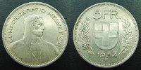 1954 B SUISSE, SCHWEIZ, SWITZERLAND Suisse, Switzerland, Schweiz, 5 fr... 9,00 EUR