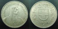 1933 B SUISSE, SCHWEIZ, SWITZERLAND Suisse, Switzerland, Schweiz, 5 fr... 9,50 EUR