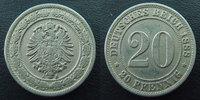 1888 A Allemagne, Deutschland, Empire, Kaisereich 20 pfennig 1888 A, J... 14,50 EUR