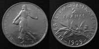 1909 France 2 Francs Semeuse de Roty 1909, G.532 TTB à SUPERBE vz  60,00 EUR  zzgl. 6,00 EUR Versand