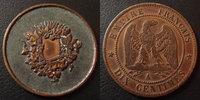 Curiositée numismatique, gravure, forme 10 centimes Napoleon III, ave... 45,00 EUR  zzgl. 6,00 EUR Versand
