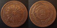 1869 Uruguay URUGUAY, 2 centesimos 1869, KM.12 TTB ss  10,00 EUR  zzgl. 6,00 EUR Versand
