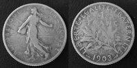 1903 France 1 Francs Semeuse de Roty 1903, G.467 TB Rare!   75,00 EUR  zzgl. 6,00 EUR Versand
