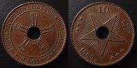 1889 Congo Belge Congo Belges, Belgie, 10 centimes 1889, petits coups ... 20,00 EUR  zzgl. 6,00 EUR Versand