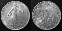 1917 France 2 Francs Semeuse de Roty 1917, G.532 SUPERBE vz  9,50 EUR  zzgl. 6,00 EUR Versand