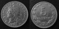1897 Argentine, Agentina ARGENTINE, ARGENTINA, 5 centavos 1897, KM.34 ... 5,50 EUR  zzgl. 6,00 EUR Versand