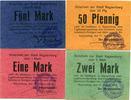 148 Kaysersberg KAYSERSBERG, Lot de 4 cartons, 0,50, 1,2 et 5 mark, av... 120,00 EUR  zzgl. 6,00 EUR Versand
