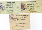 Moosch, Alsace MOOSCH (Haut Rhin), Gutschein de 10 mark, lot de 3, av... 80,00 EUR  +  6,00 EUR shipping