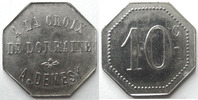 Remiremont  REMIREMONT,  la croix de Lorraine, A.Demesy, 10 centimes, Elie manque SUPERBE
