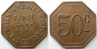 Remiremont  REMIREMONT, Trianon, A.Demesy, maison fond en 1910, 50 centimes, Elie manque TTB+