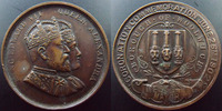 Grande Bretagne, Great Britain, Angleterre  Grande Bretagne, Great Britain, 1902, medaille (medals) 32 mm, Coronation of Edward VII, Quenn Alexandra, petits coups sur tranc