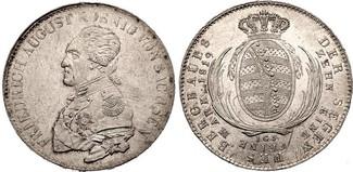 Taler, Ausbeute 1819 Sachsen Friedrich Aug...