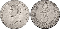 Westfalen 2/3 Taler 1810 ss Hieronymus Napoleon 1807-1813 110,00 EUR  zzgl. 4,95 EUR Versand