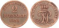Oldenburg 2 Pfennige 1858 ss, zap. Nicolaus Friedrich Peter 1853-1900 22,00 EUR  zzgl. 4,95 EUR Versand