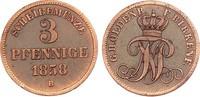 Oldenburg 3 Pfennige 1858 ss, zap. Nicolaus Friedrich Peter 1853-1900 15,00 EUR  zzgl. 4,95 EUR Versand
