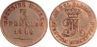 Oldenburg 3 Pfennige 1848 ss, zap. Paul Friedrich August 1829-1853 18,00 EUR  zzgl. 4,95 EUR Versand